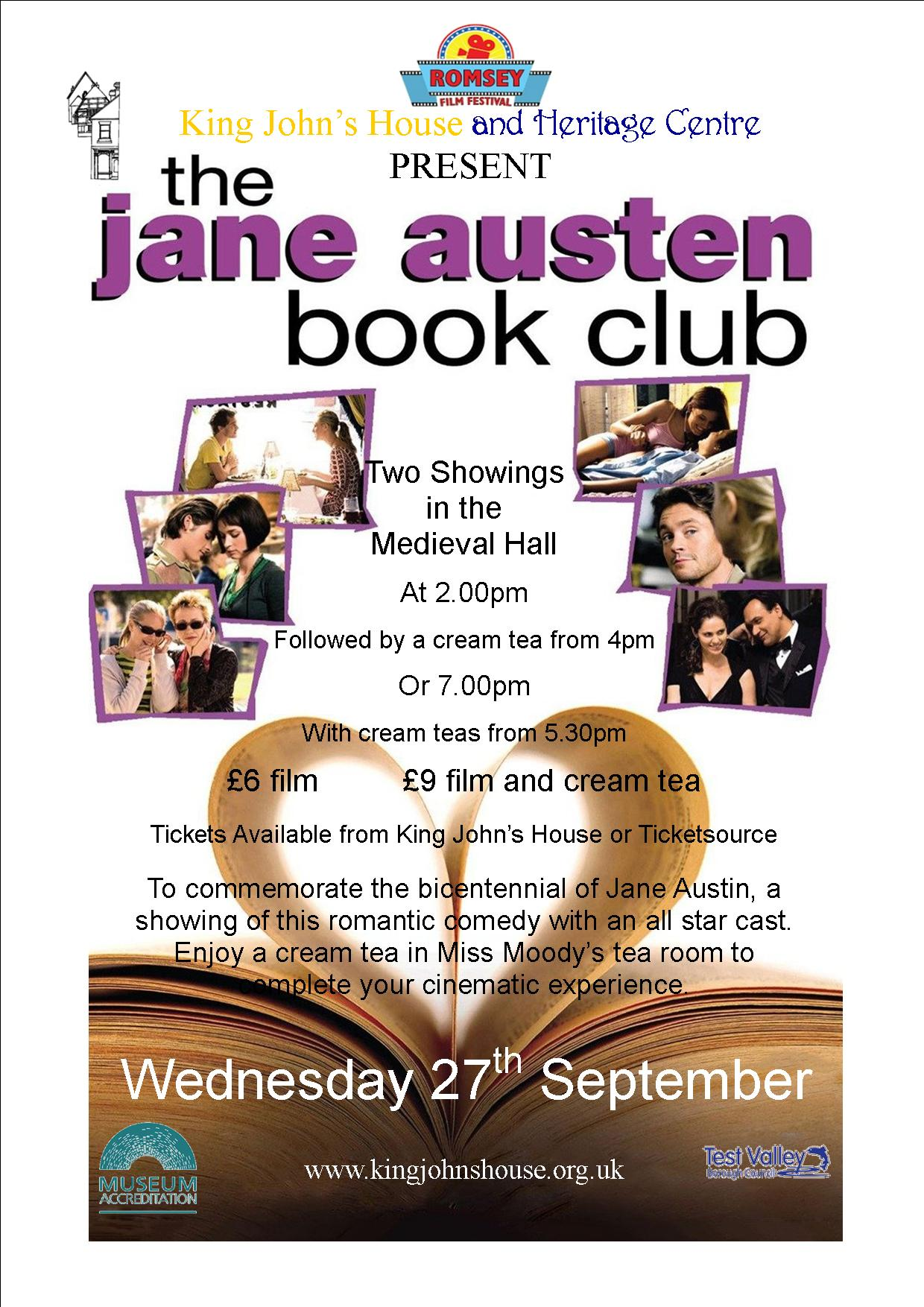 This year we are showing this film for the Romsey Film Festival, linking very nicely with our new Book Group